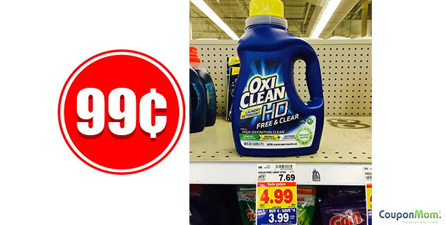 OxiClean HD Laundry Detergent 99¢ at Kroger