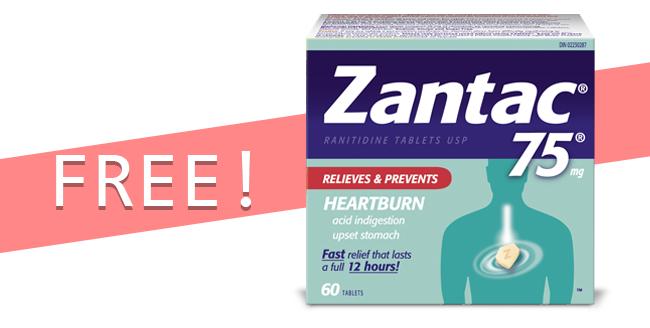 Free Zantac product from CVS