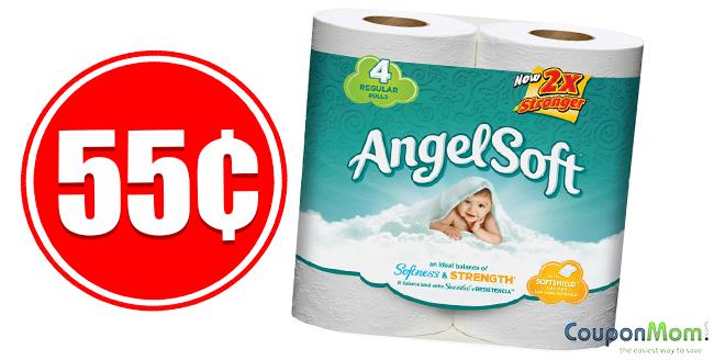 55 cent Angel Soft Bath Tissue