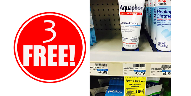 3 Free Aquaphor