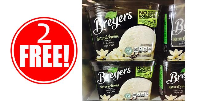 2 FREE Breyers Ice Cream
