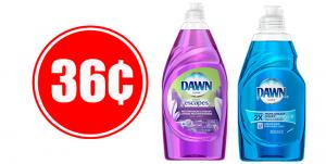 36¢ Dawn Dish Liquid