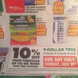 dollar tree coupon