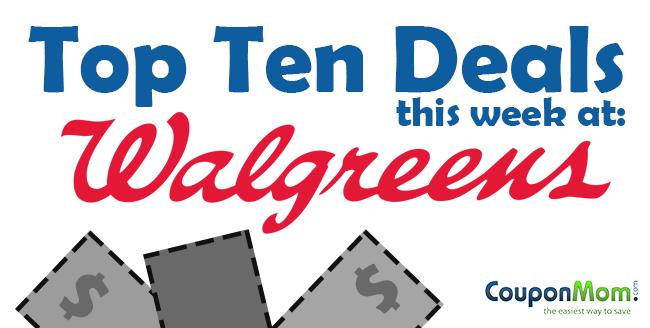 Top ten deals at Walgreens this week